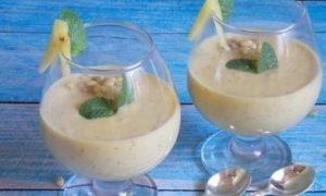 Ананасовый смузи с кедровыми орешками кулинарный рецепт