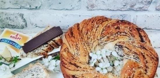 Ароматная плетенка с маком кулинарный рецепт
