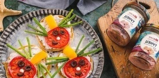 Блинчики с тунцом «Жук» кулинарный рецепт