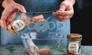 Блинчики с тунцом «Жук» рецепт шаг 5