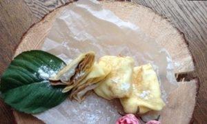 Блинчики с творогом кулинарный рецепт