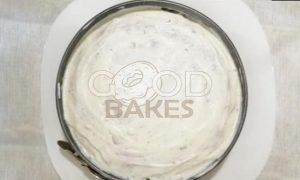 Блинный торт с форелью и красной икрой рецепт шаг 17