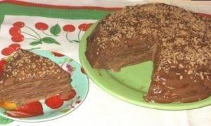 Блинный торт «Шоколадное удовольствие» кулинарный рецепт