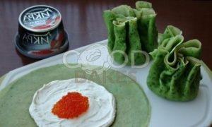 Блинный торт-суши с красной икрой рецепт шаг 5