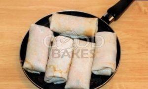 Блины с капустой и икорным соусом рецепт шаг 11