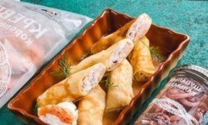 Блины с морепродуктами кулинарный рецепт