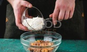 Блины с морепродуктами рецепт шаг 10