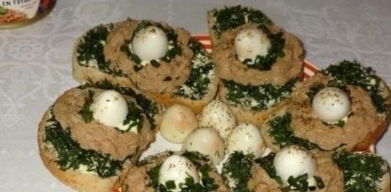 Бутерброды «Гнездышки» кулинарный рецепт