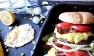 Двойной гамбургер кулинарный рецепт