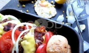 Двойной гамбургер рецепт шаг 17