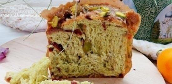 Фисташковый кулич-бриошь кулинарный рецепт