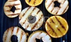 Фрукты на гриле (гарнир к шашлыкам) рецепт шаг 4