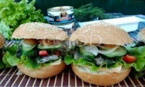 Гамбургер с сайрой рецепт шаг 7