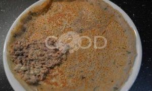 Гречневые блины с печенью трески и икрой рецепт шаг 6