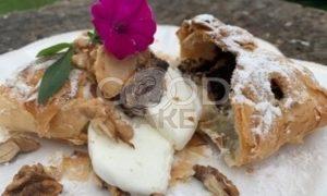 Яблочный пирог с маком и мороженым рецепт шаг 6