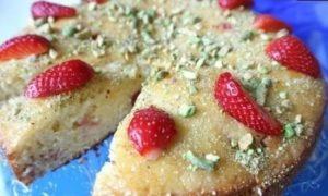 Йогуртовый пирог с клубникой кулинарный рецепт