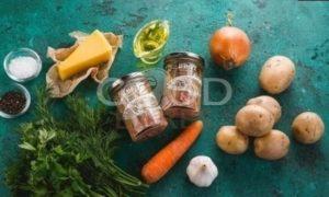 Картофельная запеканка с тунцом рецепт шаг 1