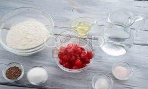 Хлеб c вишней рецепт шаг 1