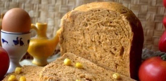 Хлеб на томатной пасте с сушеным луком кулинарный рецепт