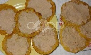 Кукурузные мини-блинчики с паштетом из тунца и яйцами рецепт шаг 12