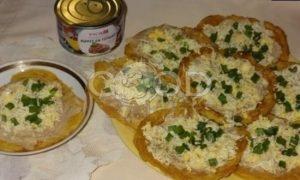 Кукурузные мини-блинчики с паштетом из тунца и яйцами рецепт шаг 14