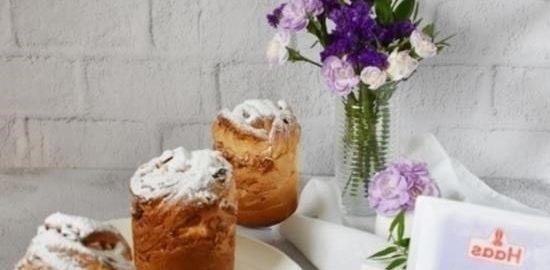 Куличи-краффины с орехами и изюмом кулинарный рецепт