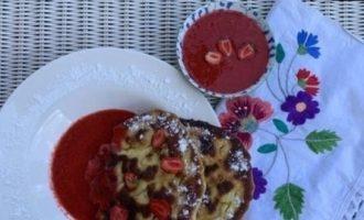 Лепешки с клубникой кулинарный рецепт