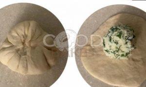 Лепешки с сыром и зеленью рецепт шаг 3