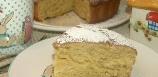 Лимонно-медовый пирог с имбирными цукатами кулинарный рецепт