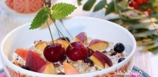 Медовая гранола с корицей и сухофруктами кулинарный рецепт