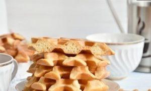 Мягкие вафли без сахара кулинарный рецепт