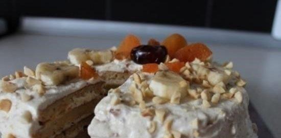 Морковно-творожный диетический торт кулинарный рецепт