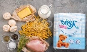 Пенне с курицей и сливочным соусом рецепт шаг 1