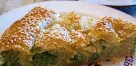 Пирог из теста фило со шпинатом и сыром кулинарный рецепт