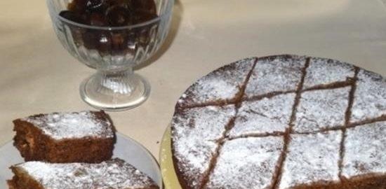 Пирог с финиками и орехами кулинарный рецепт