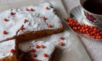 Пирог с морковью и облепихой кулинарный рецепт