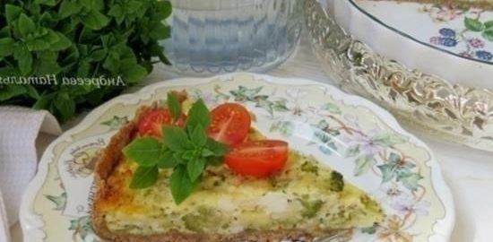 Пирог с рикоттой и брокколи кулинарный рецепт