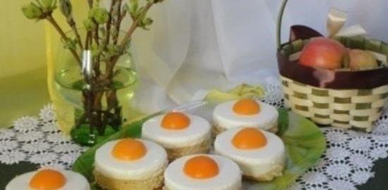 Пирожные «Глазунья» кулинарный рецепт