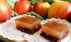 Пирожные с яблочным мармеладом кулинарный рецепт