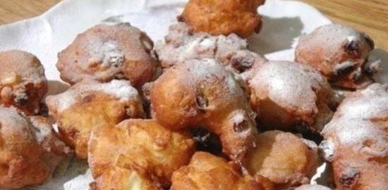 Пончики с изюмом, орехами и апельсиновыми цукатами кулинарный рецепт
