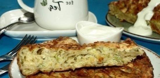 Рваный пирог с кабачками и сыром кулинарный рецепт