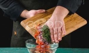 Сэндвич с овощами и тунцом рецепт шаг 4