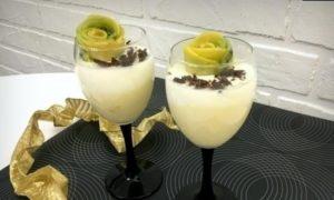 Сметанный десерт «Тропический вкус» кулинарный рецепт