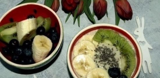 Смузи-боул с киви и бананом кулинарный рецепт