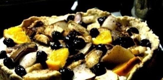 Тарт с творогом и грушами кулинарный рецепт