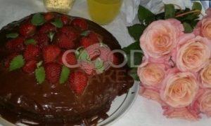 Торт с клубникой «Именинный» рецепт шаг 16