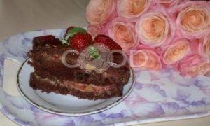 Торт с клубникой «Именинный» рецепт шаг 17