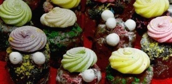Творожные куличи к Пасхе кулинарный рецепт
