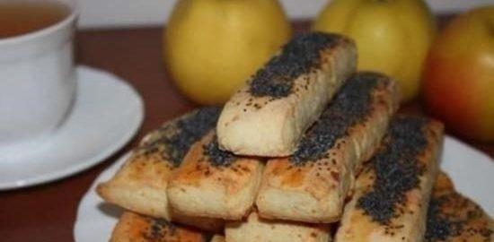 Творожные палочки с маком кулинарный рецепт