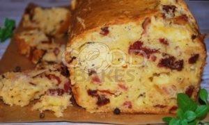 Закусочный кекс с беконом, вялеными томатами и сыром рецепт шаг 9
